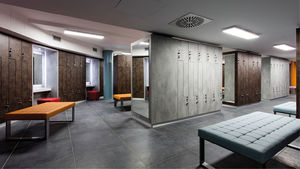 taquilla de vestuario de melamina / para edificio público / para instalación deportiva / para centro de bienestar