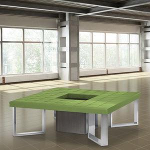 banqueta contemporánea / de cuero artificial / para edificio público / de interior