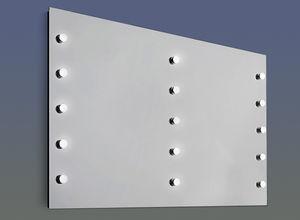 espejo de pared / con luz / contemporáneo / rectangular
