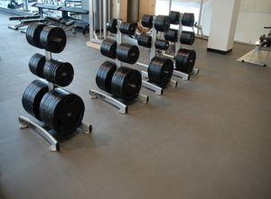 pavimento de caucho / de alta eficacia / para instalación deportiva / en losas