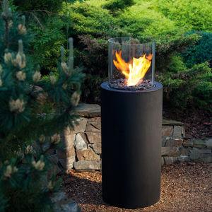 chimenea de jardín / de bioetanol / contemporánea / hogar abierto