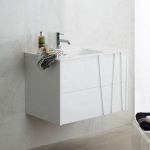 mueble de lavabo suspendido / laminado / de Krion® / contemporáneo