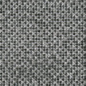 mosaico de interior / de pared / de metal / brillante