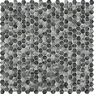 mosaico de interior / de pared / de metal / hexagonal