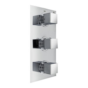 grifo monomando para ducha / de pared / de metal cromado / termostático
