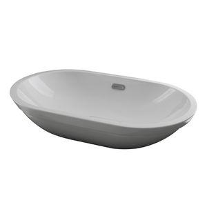 lavabo encastrable / ovalado / de cerámica / contemporáneo
