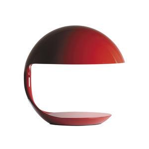 lámpara de mesa / de diseño original / de aluminio pintado / de resina