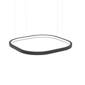 luminaria suspendida / LED / cuadrada / de aluminio lacado