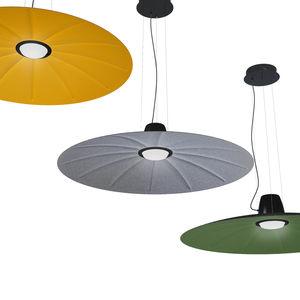 lámpara suspendida / contemporánea / de aluminio / de tejido