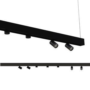 iluminación sobre riel LED / redonda / de acero / de aluminio pintado
