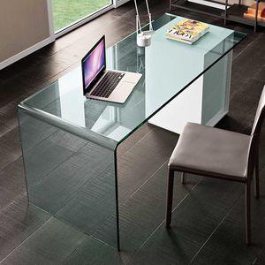 escritorio de madera / de vidrio / de cuero / contemporáneo