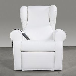 sillón médico de poliuretano / reclinable / eléctrico / blanco