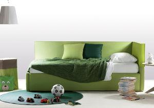 sofá cama / contemporáneo / de cuero / de tejido