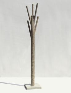perchero de pie / contemporáneo / de madera