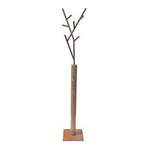 perchero de pie / contemporáneo / de acero pintado / de madera maciza