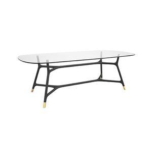 mesa contemporánea / de madera maciza / de fresno / con base de fresno