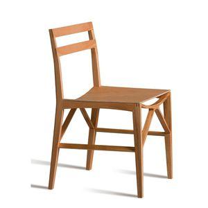 silla contemporánea / de fresno / de contrachapado / de cerezo