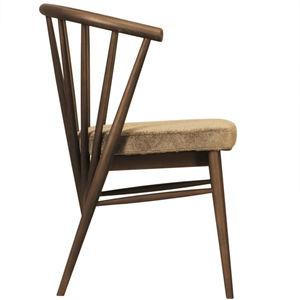 silla clásica / tapizada / con reposabrazos / de fresno