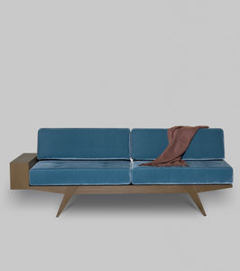 sofá contemporáneo / de tejido / de cuero / de madera maciza