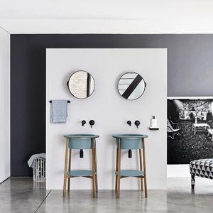 mueble de lavabo de pie / de cerámica / de mármol / de diseño