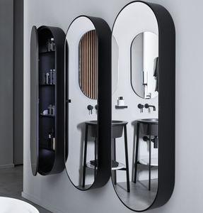 espejo de pared / con estantes / suspendido / con almacenamiento