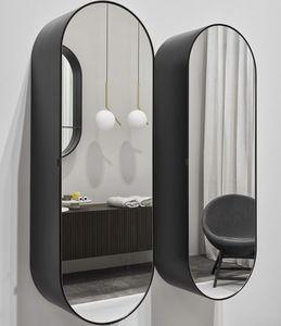 espejo de pared / contemporáneo / ovalado / para centro de estética
