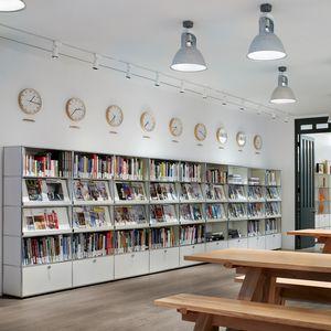 biblioteca contemporánea / para oficina / de MDF lacado / de metal