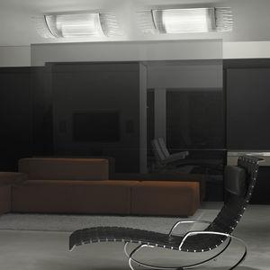 plafón contemporáneo / rectangular / de vidrio / de metal