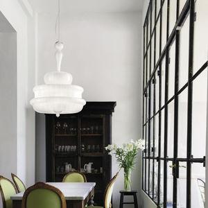 lámpara araña clásica / de cristal de Murano / de incandescencia