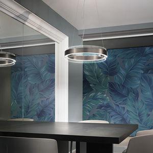 lámpara suspendida / contemporánea / de cristal / LED