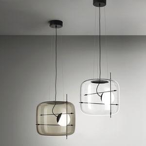 lámpara suspendida / contemporánea / de metal / de vidrio