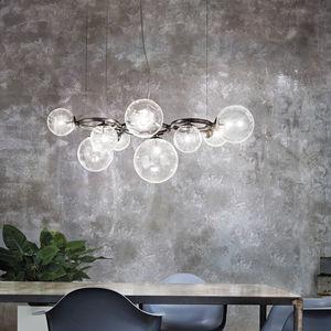 lámpara araña contemporánea / de vidrio soplado / LED