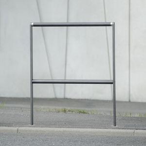barrera de protección / fija / de acero inoxidable / de madera