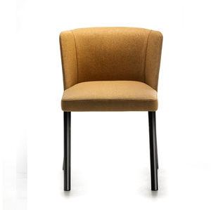 silla contemporánea / tapizada / de acero pintado / contract