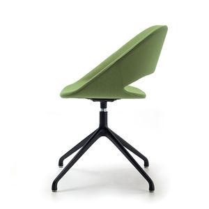 silla de visita contemporánea / tapizada / con patas en forma de estrella / giratoria
