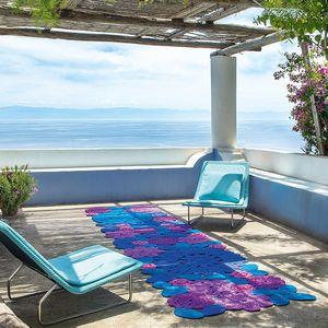 alfombra contemporánea / con motivos / de fibras sintéticas / rectangular