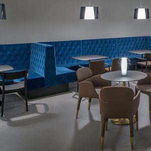 banqueta modular / contemporánea / de tejido / de cuero artificial