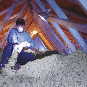 aislante termoacústico / de lana de vidrio / de pared / para techado