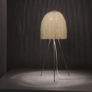 lámpara de mesa / contemporánea / de malla de acero inoxidable / de pie