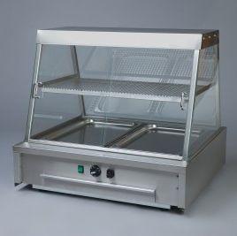 vitrina calefactada con base