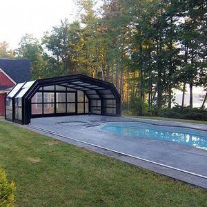 cubierta para piscina alta