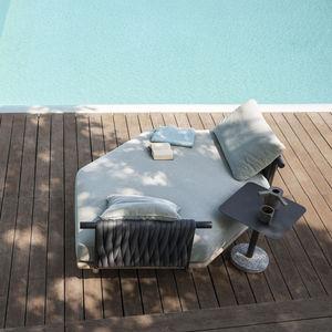 sofá de jardín / modular / contemporáneo / para zona de recepción