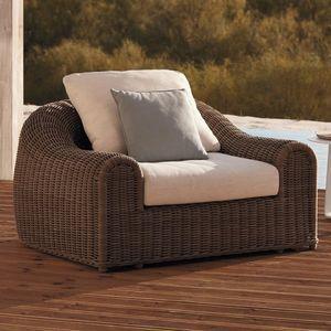 sillón contemporáneo / de tejido / de fibras sintéticas / de polietileno de alta densidad PEHD