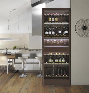 armario bodega para uso residencial / para suelo / de madera