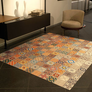 alfombra contemporánea / patchwork / de PVC / rectangular