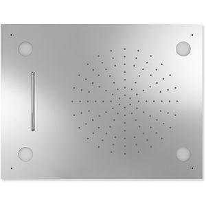 rociador de ducha empotrable de techo / rectangular / lluvia / con cromoterapia
