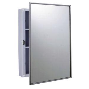 armario botiquín de pared / para el sector servicios / con espejo