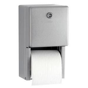 dispensador de papel higiénico de pared / de acero inoxidable / para el sector servicios