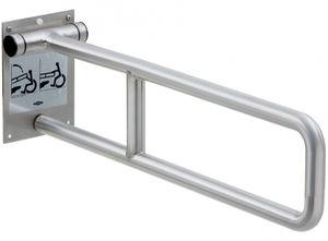 barra de apoyo de acero inoxidable / en U / de pared / para hotel