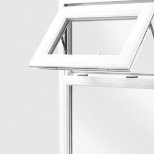 ventana fija / de acero / de PVC / con vidrio doble